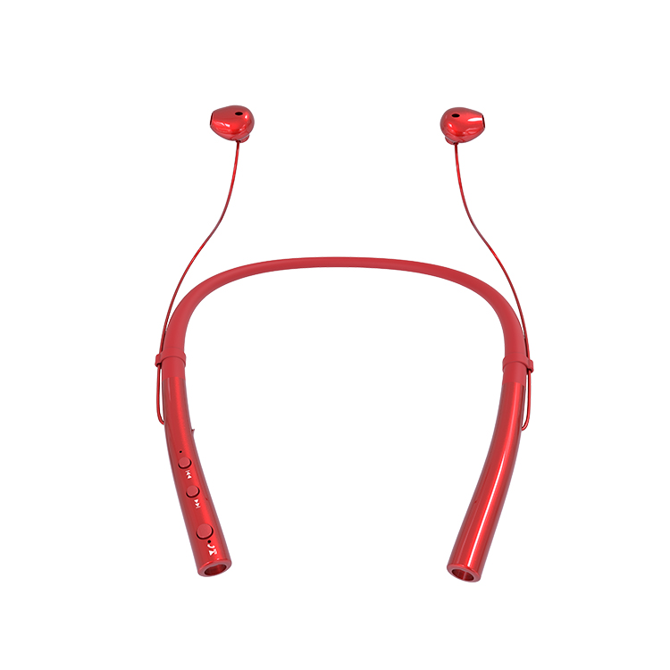 bluetooth wireless headphones neckband with mic