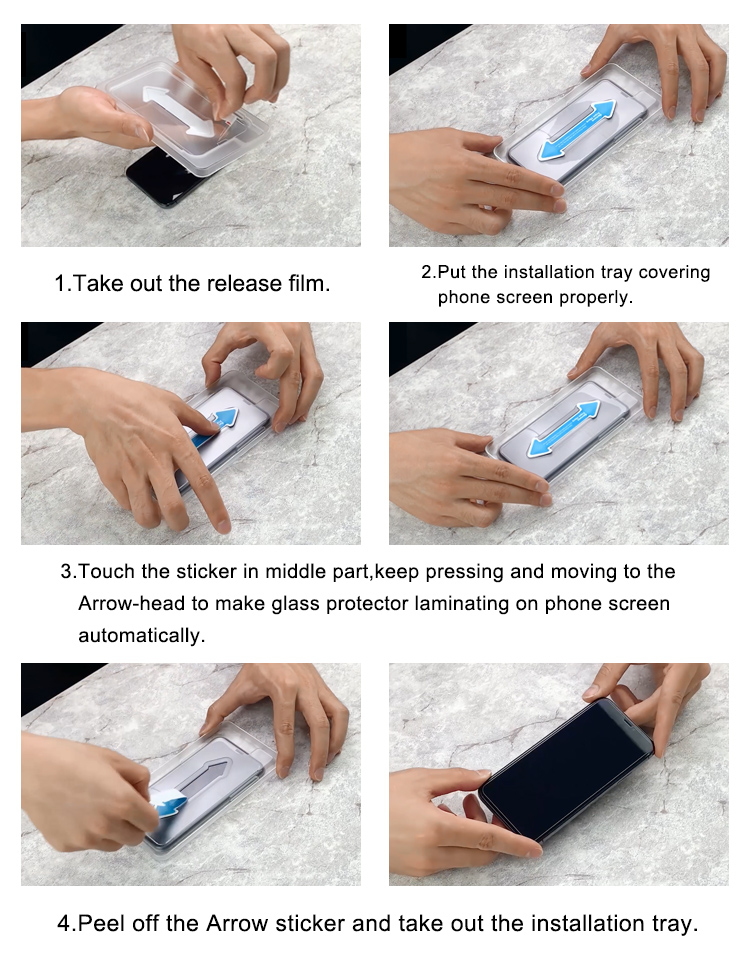 iphone xs max tempered glass screen protector easy applicator tool