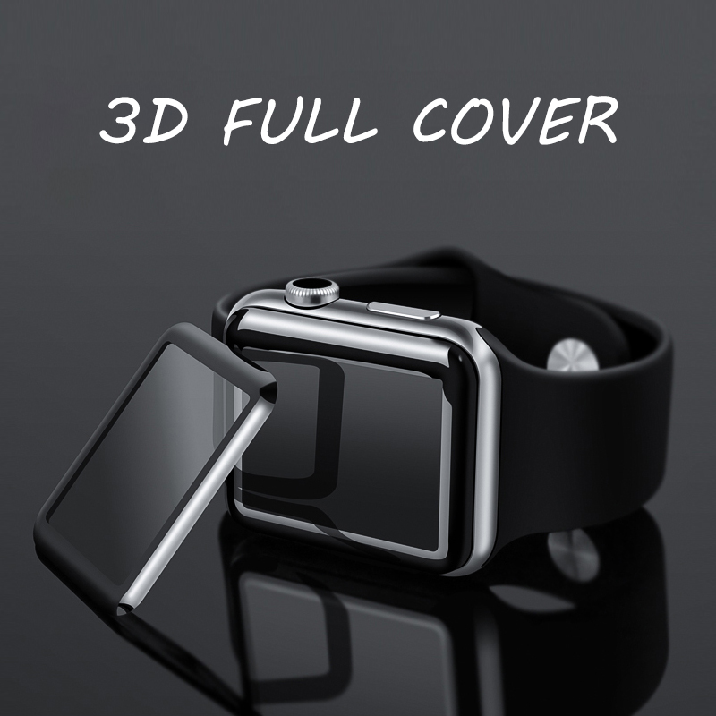 3d full cover apple watch tempered glass screen protectors
