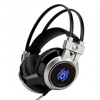 Glowing stereo headphone gaming headset with microphone for PC