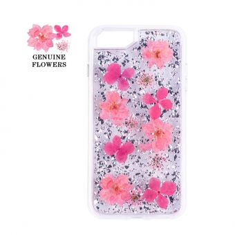iPhone 7/8 plus dried genuine petal cell phone case