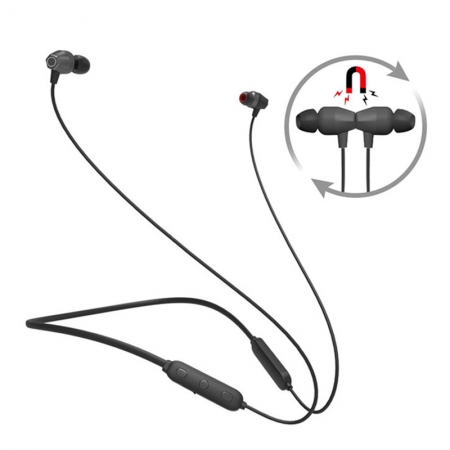 Magnetic Sweat-proof Running Earbuds Bluetooth 4.2 Wireless Neckband Earphones