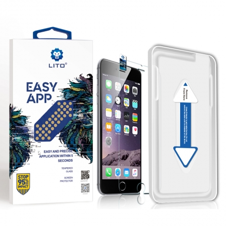 Iphone 6/6S Clear Tempered Glass Screen Protector With Installation Tool