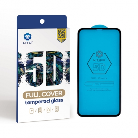 Iphone X 5D Full Coverage Tempered Glass Screen Guard