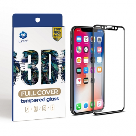 IPhone X 3D Curved Edge Anti Fingerprint Tempered Glass Screen Cover
