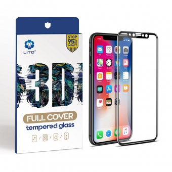 Iphone x 3d curved edge tempered glass screen protector