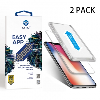 Iphone x flexible tempered glass screen protector with applicator