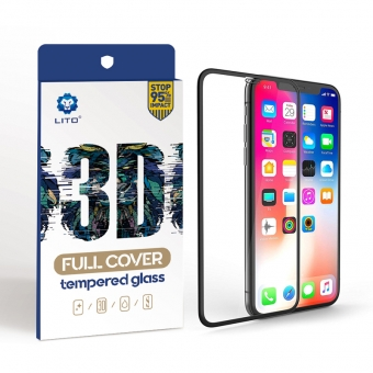 iPhone xs max 3d full frame curved edge tempered glass screen protectors