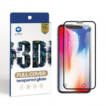 Iphone xs full coverage screen protector apple tempered glass protection film