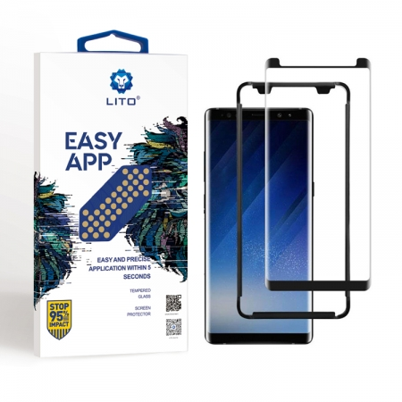 Samsung Galaxy Note 8 Tempered Glass Screen Protector Full Adhesive With Applicator