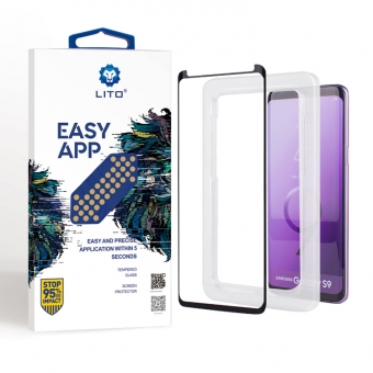 Samsung galaxy S9 case friendly glass screen cover with applicator