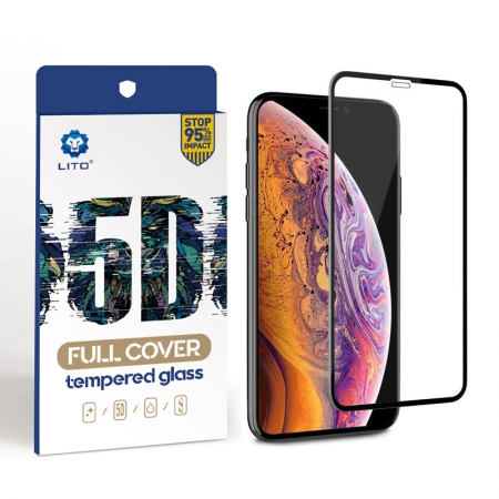 IPhone XS 5D Curved Full Cover Tempered Glass Screen Protector Film