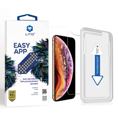 IPhone XS Transparent Tempered Glass Screen Protector With Easy Installation