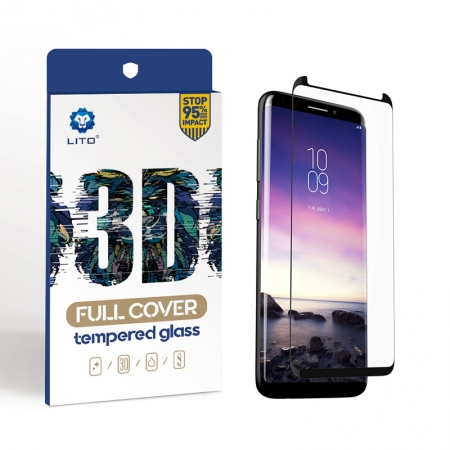 Samsung Galaxy S9 Plus Full Cover Curved Tempered Glass Screen Protector Case Friendly