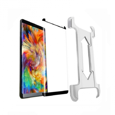 Samsung Galaxy Note 8 Edge Adhesive Tempered Glass Screen Protector With Easy Installation Tray