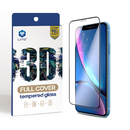 IPhone XR 6.1 Inch Full Coverage Tempered Glass Screen Protectors
