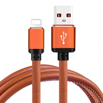 Apple usb cable fast charge and data transfer pu leather charging cable