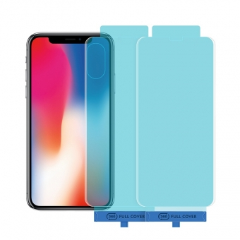 iPhone x/xs front & back tempered glass screen protector with applicator tool