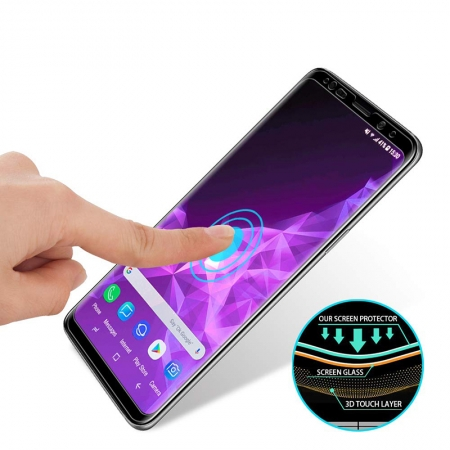 Samsung Galaxy S9/S9 Plus Full Covered Full Glue Tempered Glass Screen Protector With Applicator