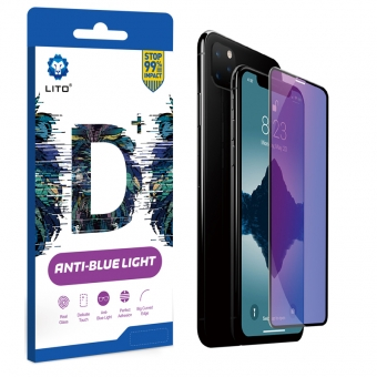 Best LITO D+ Curve Full Coverage Full Glue Anti-Blue Light Filter Tempered Glass Screen Protector For iPhone For Sale