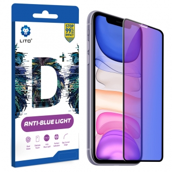 Best LITO Full Coverage Full Glue Anti-Blue Light Tempered Glass Screen Protector For iPhone 11/XR For Sale