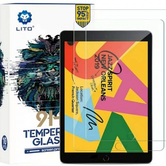Best LITO Full Covered 9H Hardness High Definition Tempered Glass Screen Protector For iPad 10.2 Inch 2019 For Sale