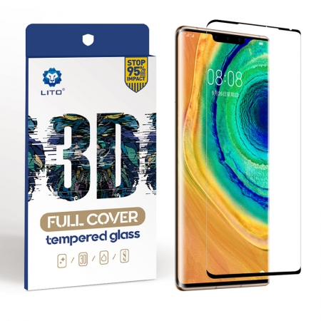 Huawei Mate 30 Pro Full Cover Anti-Fingerprint Tempered Glass Screen Protector