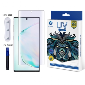Best LITO UV Light Liquid Glue Full Coverage Anti-Blue Light Glass Screen Protector For Samsung Note10/10+ For Sale