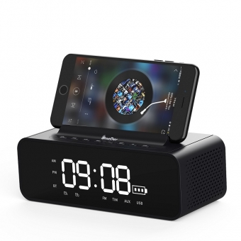 Best OneDer V06 Multifunctional Dual Alarm Clock LED Display Wireless Bluetooth Speaker For Sale