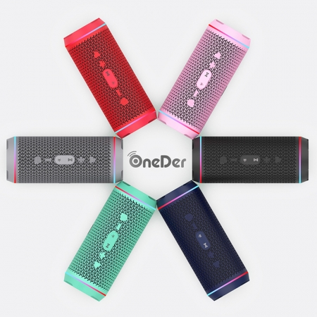 OneDer V10 Super Portable Multifunctional And Flashing LED Light Wireless Bluetooth Speaker