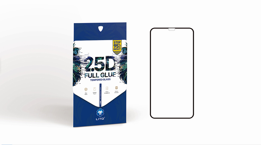 LITO 2.5D Full Glue Full Cover Tempered Glass